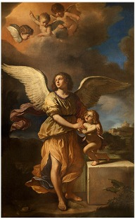 Guardian Angel, Guercino, 1641