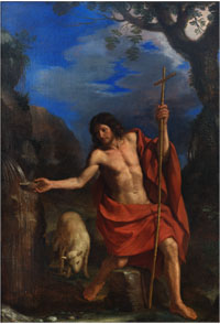 St. John the Baptist at the Well, Guercino, 1661