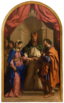 The Marriage of the Virgin, Guercino, 1648